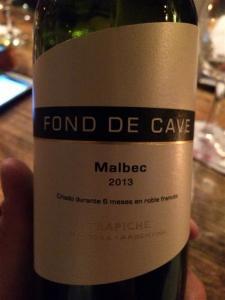 Fond de Cave Malbec
