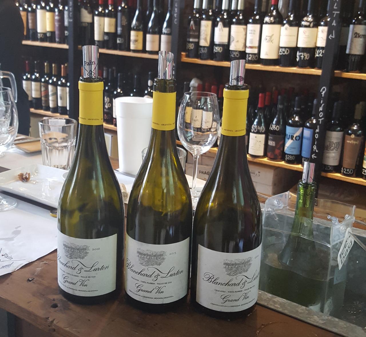 Vertical de Blanchard & Lurton Grand Vin 2014/2015/2016