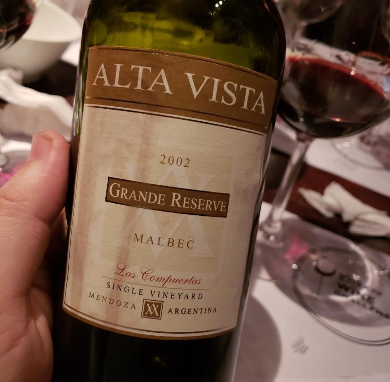 Alta Vista Grande Reserve Malbec Las Compuertas 2002