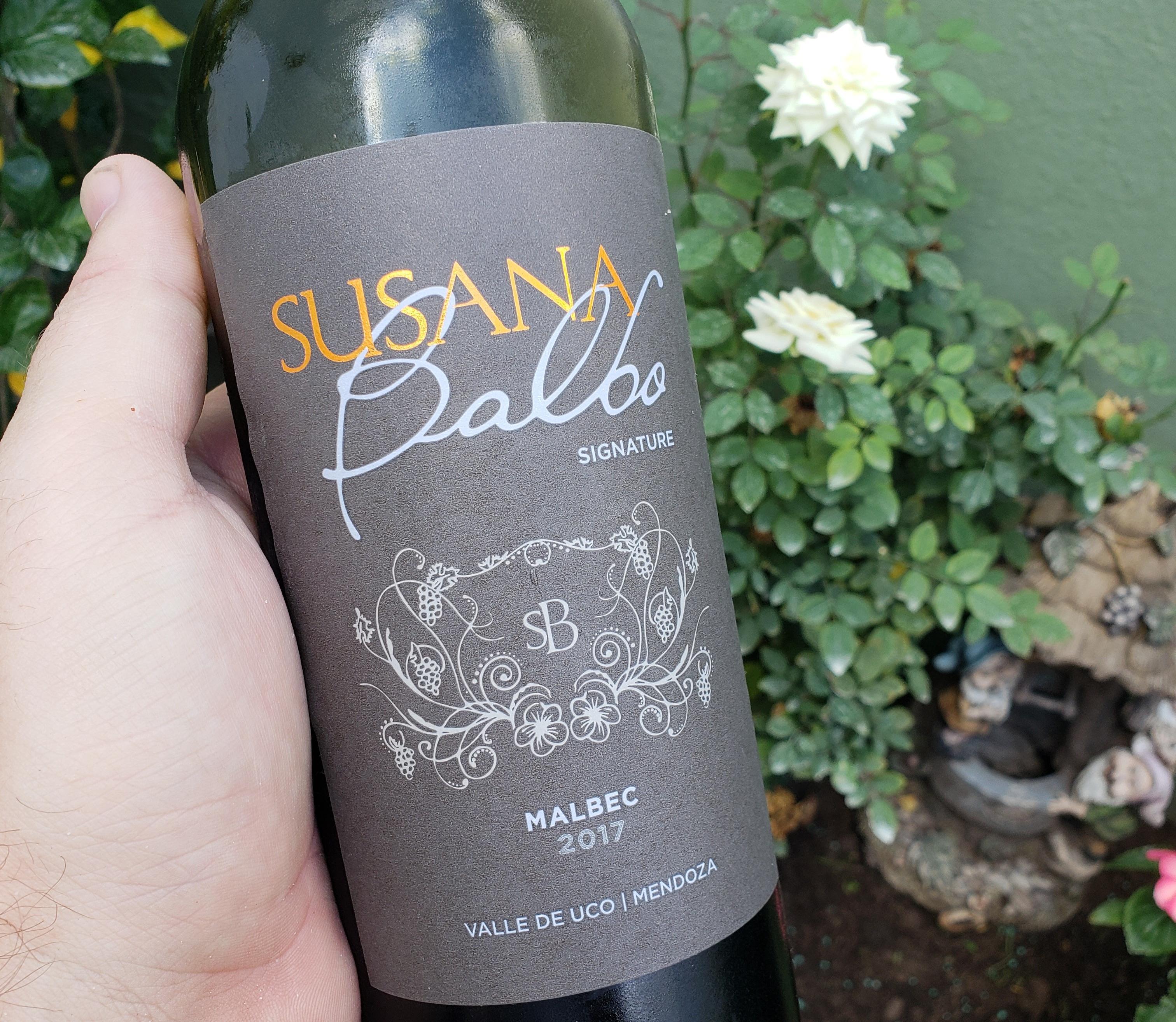 Susana Balbo Signature Malbec 2017 para encontrar las notas florales en un Malbec