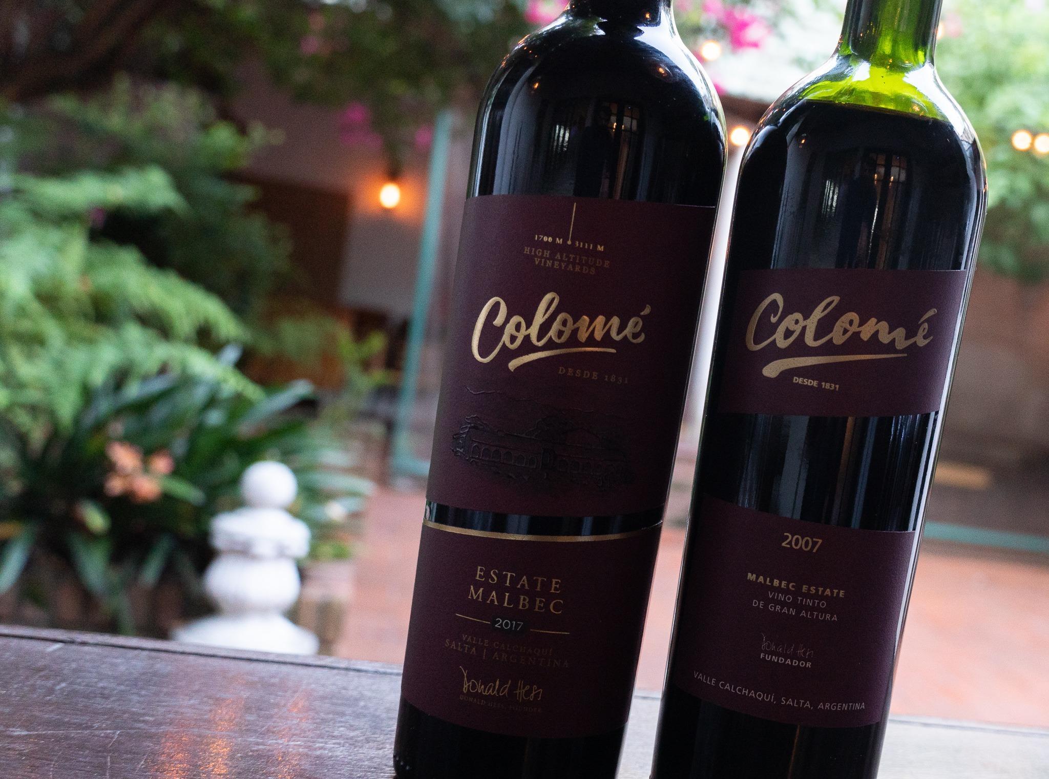 Colomé Estate 2017 y Colomé Estate 2007