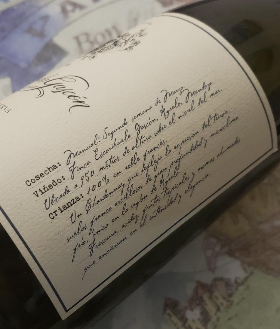 Risotto de Mollejas y Escorihuela Gascón Gran Reserva Chardonnay 2016