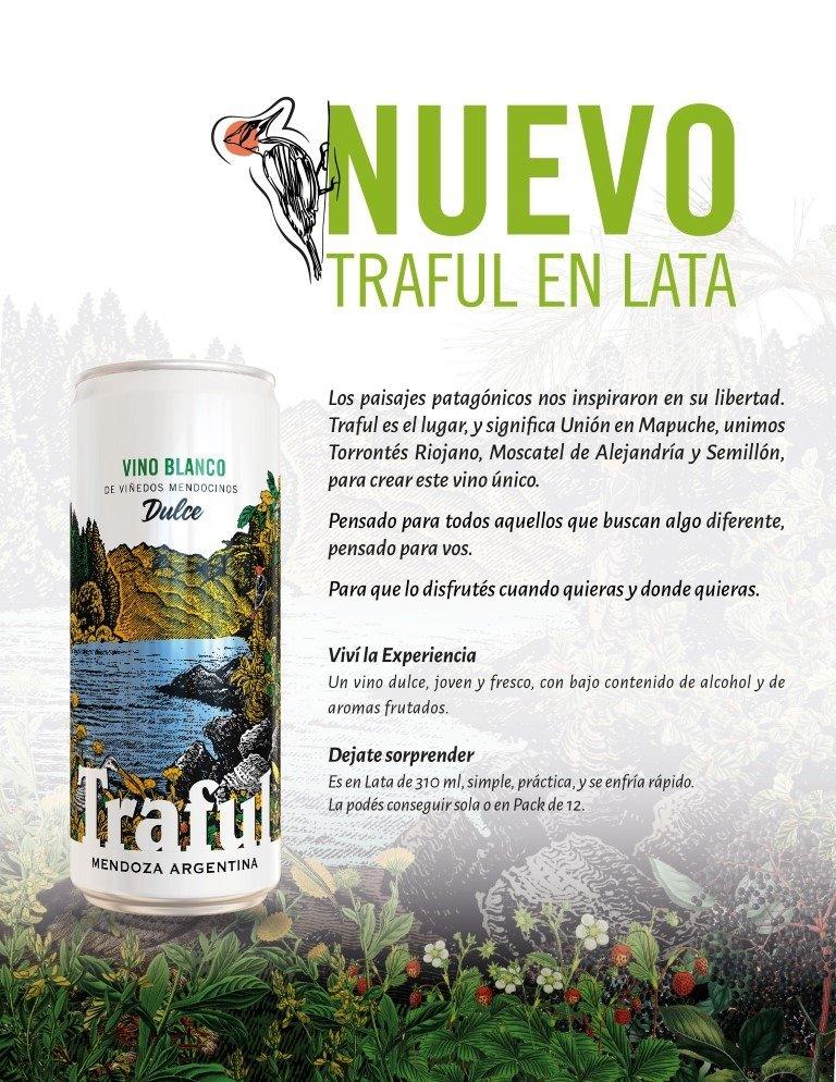 Bodegas López lanza su primer vino en lata Traful Vino Blanco Dulce (3)
