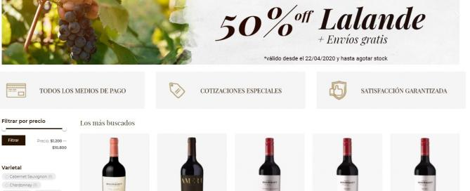 Domaine Bousquet relanzó su tienda online