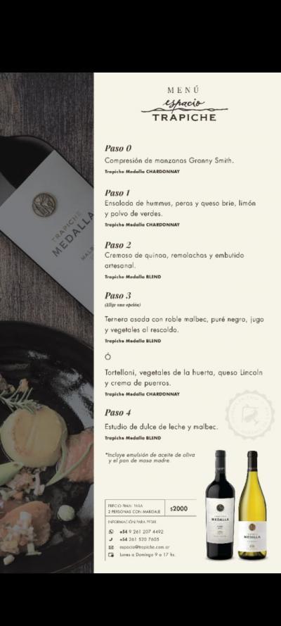 """La iniciativa de """"Espacio Trapiche te acompaña en casa"""", ideada por el Chef Lucas Bustos, invita a seguir disfrutando sus platos junto a los vinos de Bodega Trapiche pero esta vez desde la comodidad de casa."""