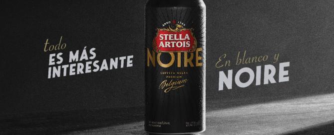 Stella Artois Noire presenta su nueva lata - Todo es más interesante en blanco y Noire