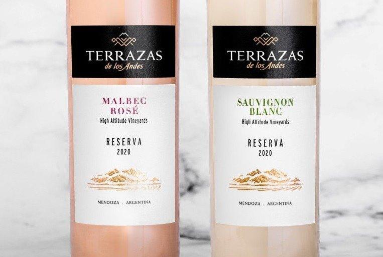 Terrazas de los Andes presenta la cosecha 2020 de su Terrazas Reserva Malbec Rosé y Sauvignon Blanc