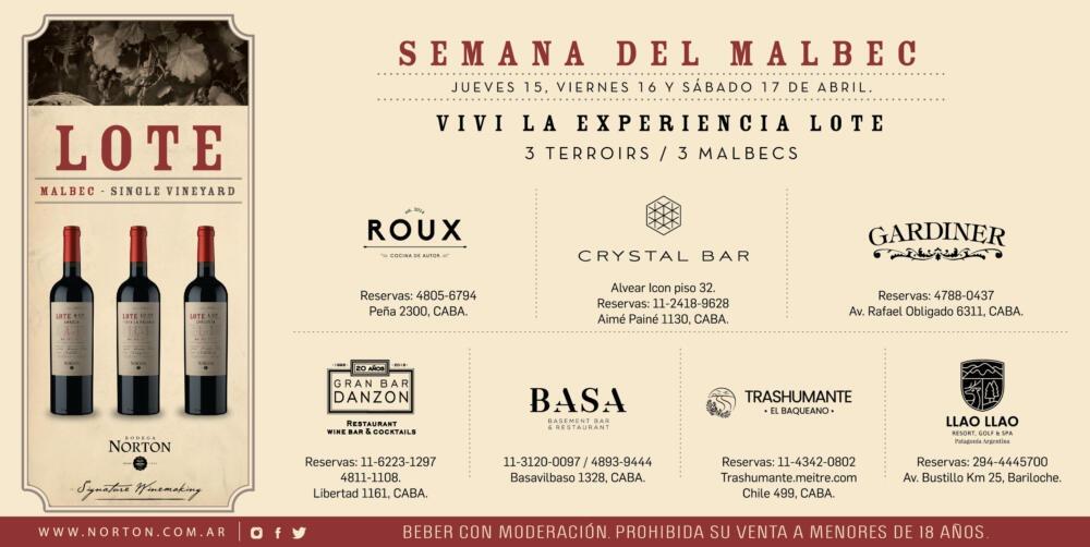 Bodega Norton celebra la Semana del Malbec disfrutando lo mejor de la Gastronomía Argentina