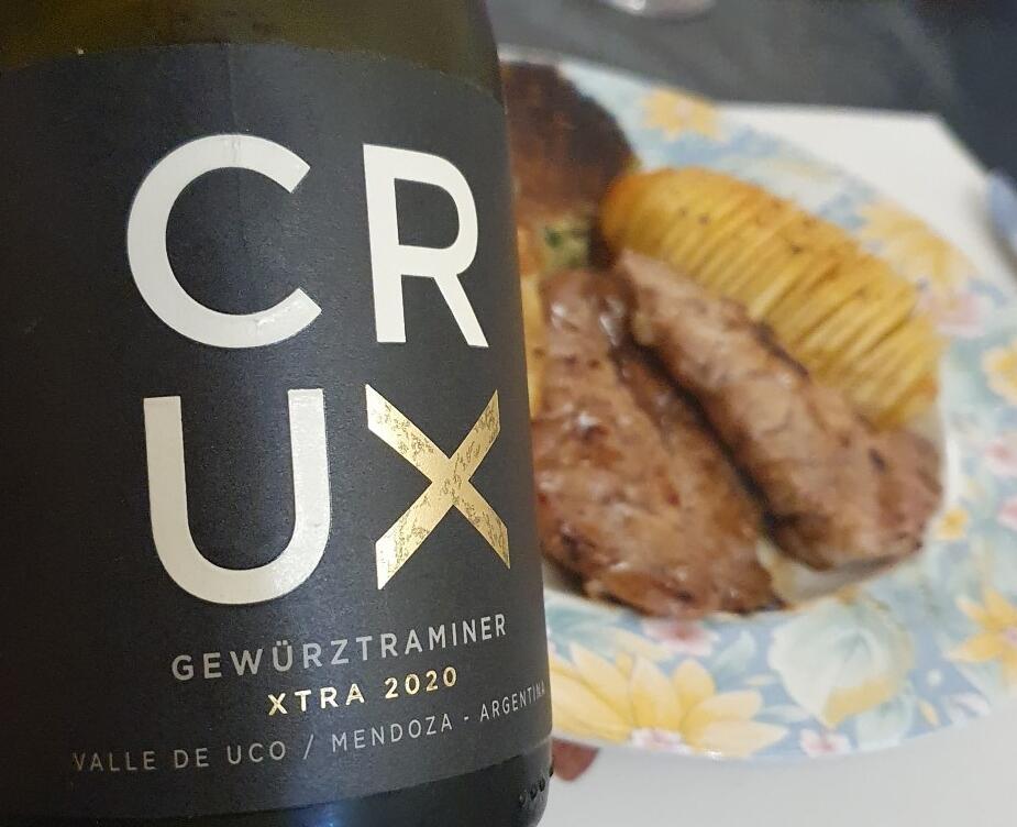 Mollejas Glaseadas y Crux Xtra Gewurztraminer 2020 (4)
