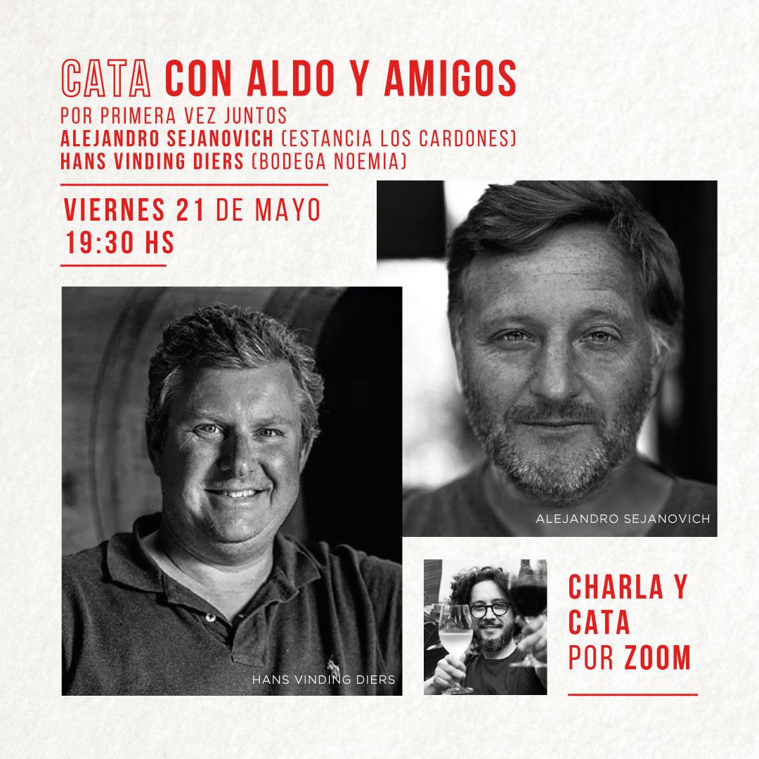 Alejandro Sejanovich y Hans Vinding Diers juntos por primera vez en una nueva Cata con Aldo y Amigos